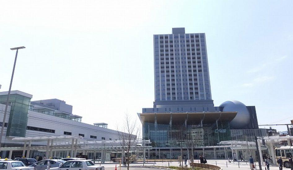福井駅とハピリン
