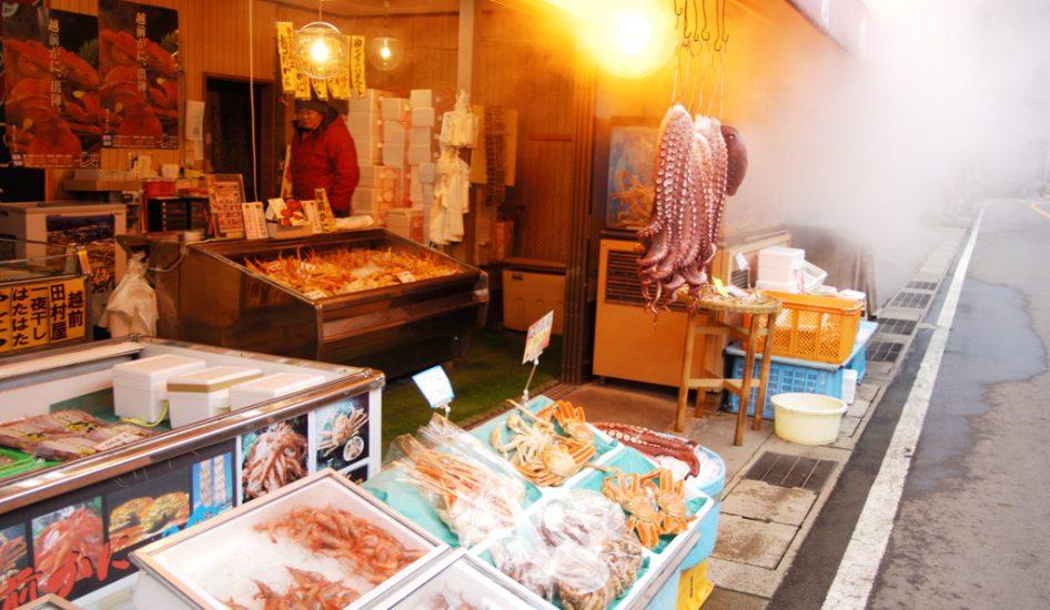 カニ売り場(坂井市)